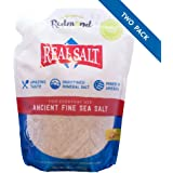 Redmond Real Salt, Ancient Fine Sea Salt, Unrefined Mineral Salt, 26 Ounce Pouch (2 Pack)