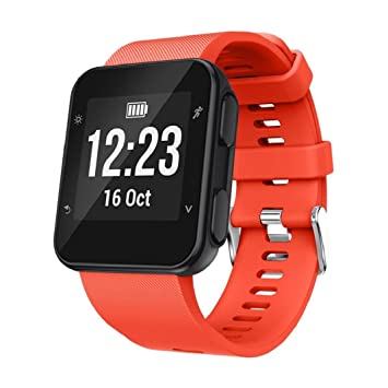Correa de repuesto de silicona para reloj inteligente Garmin Forerunner 35., color naranja: Amazon.es: Deportes y aire libre