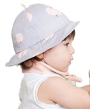 6d6530dc869a6b Seliyi つば付き ハット ベビー 赤ちゃん 用 帽子 ハット 日差し 紫外線防止 丸洗い 可 (パープル