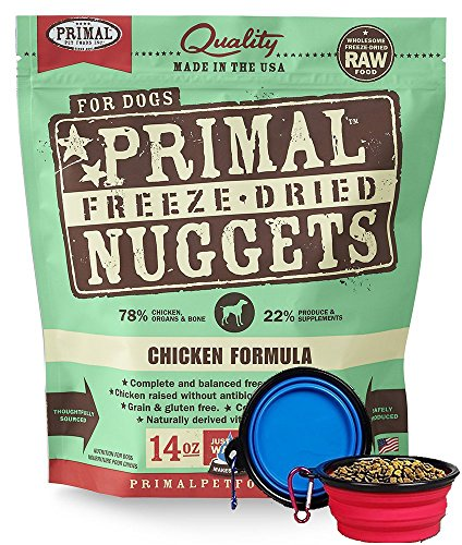 Primal Pet Food - Freeze Dried Dog Food 14-ounce Bag - Made in USA (Chicken)