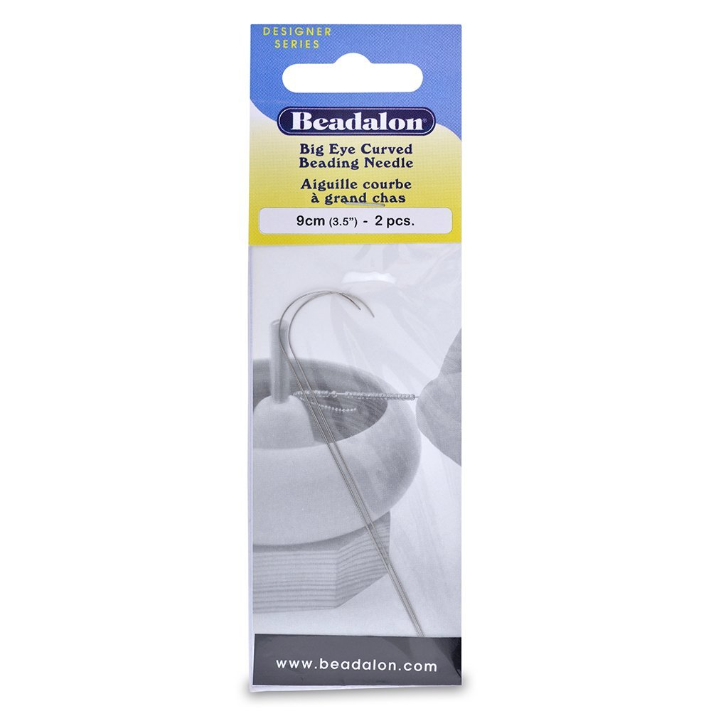 Beadalon 700A-300 Big Eye Curved Needles 3.5-Inch 2 Pieces Stainless (2 Pack) by Beadalon
