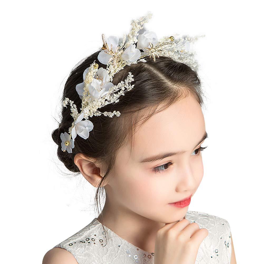 Hair Accessories Six Flower Pearl Headbands Girl/'s Headwear Candy Colors