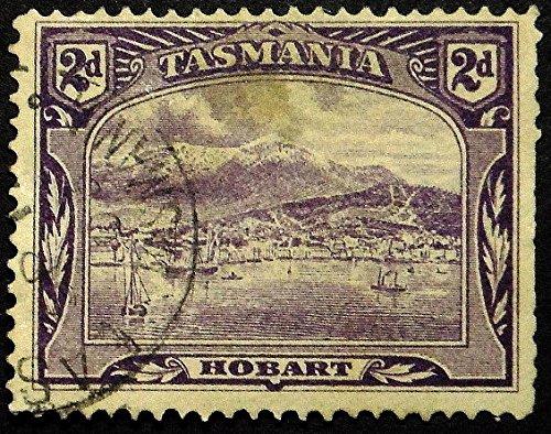 Hobart Tasmania Australia -Framed Postage Stamp Art 16845