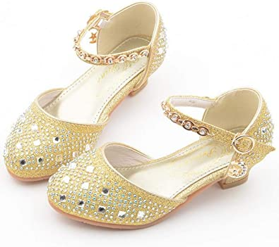 Kids Girls Glitter Bridal Wedding Party Princess Sandals Bridesmaid Shoes Size