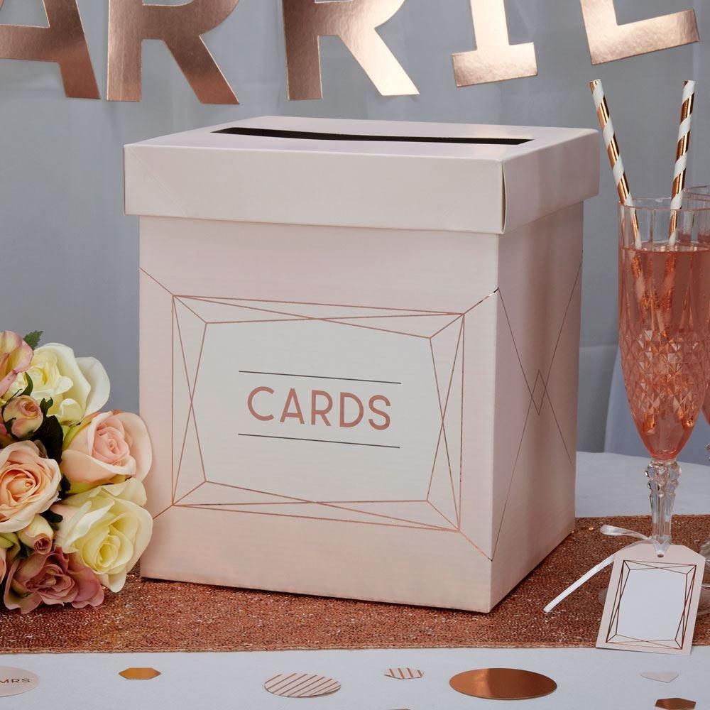 Luck Neviti Geo Blush - Wedding Card Post Box