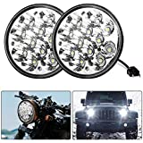 """Round Led Headlights 5.75"""" 5-3/4"""" 36W H5001 Par46 Fit for Unity Spotlight Truck Led Flood Work Light Replacement Sealed Beam Projector Chrome Offroad Tractor- Pair"""