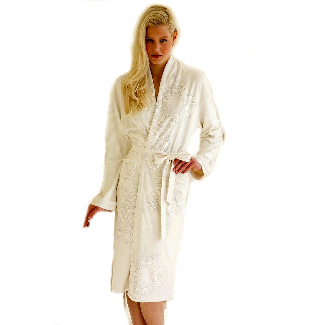 Wrap Up by VP Beige Capri Microfiber Long Robe, S/M