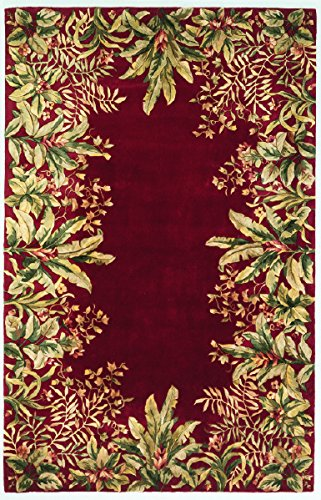 KAS Oriental Rugs Emerald Collection Tropical Border Area Rug, 3'6
