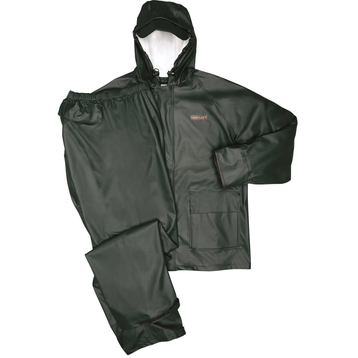 GEMPLER'S Stretch-Knit Rainsuit Jacket and Pants With Neoprene Cuffs & Vented Back, Size Medium