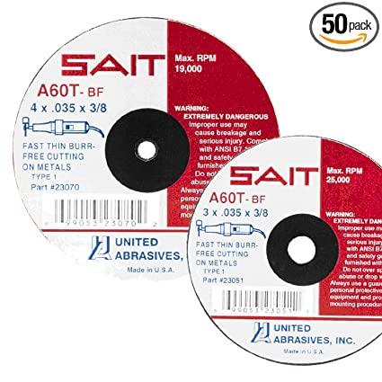 new SAIT 20095 Type 27 9-Inch X 1//4-Inch X 5//8-Inch 6600 RPM Grinding wheel