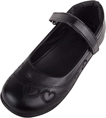 Absolute Footwear Kids/Childrens/Girls Casual School Shoes with Ripper Fastening and Heart Design