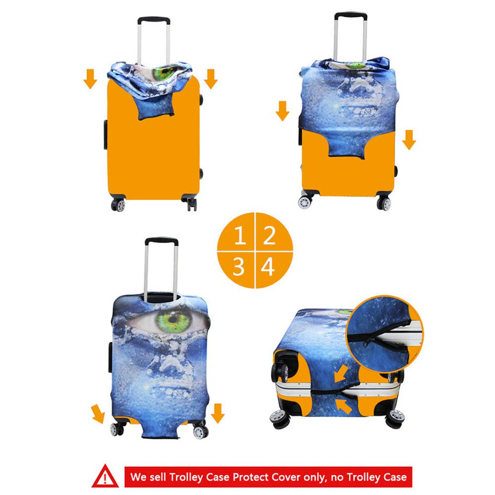 Custom - Agroupdream Wei/ß Agroupdream Elastische Kofferschutzh/ülle f/ür 18-32 Zoll Koffer