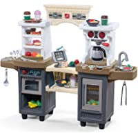 Step2 Kids Playset Coffee Bean Café and Kitchen, Gray