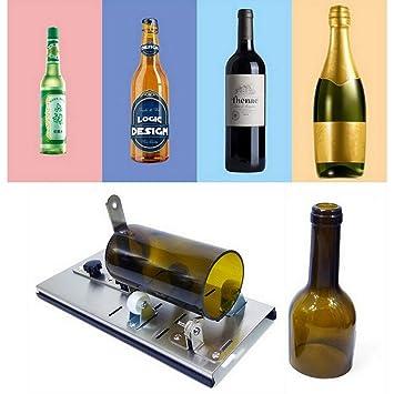 Cortador de botellas de vidrio ajustable con kit de herramientas ...