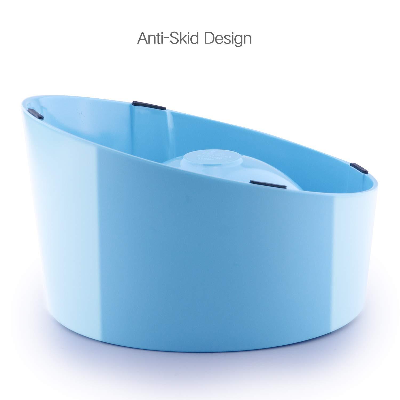 Ciotola per Alimenti in Acciaio Inossidabile Super Design inclinazione di 15 /° per Cane Ciotola in melammina Resistente