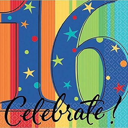 Amazon.com: Un año para celebrar 16th fiesta de cumpleaños ...