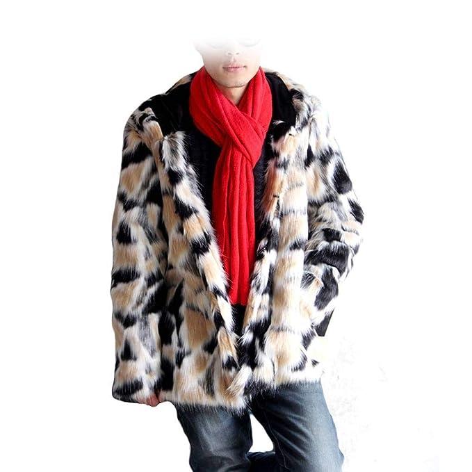 Chaqueta Piel Para Ropa Hombre Capucha Con Patrón Fur Art De Abrigo xYUwgg