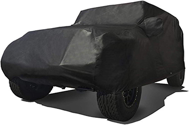 Ryzen Custom Fit 2004-2018 Jeep Wrangler Unlimited JK JL4 4 Door SUV Car Cover Heavy Duty All Weather Ultrashield Black