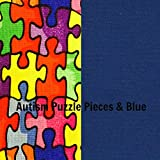 Mosaic Weighted Blankets Kids/Teens - Puzzle Pieces (Kids 38''x42'' - 7 lbs, Puzzle Piece Blue)