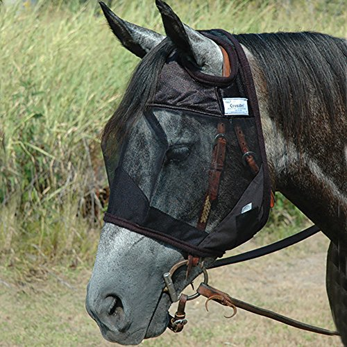 Cashel Quiet Ride Standard Fly Mask No Ears or Nose - Size: - Fly Cashel Pink Mask