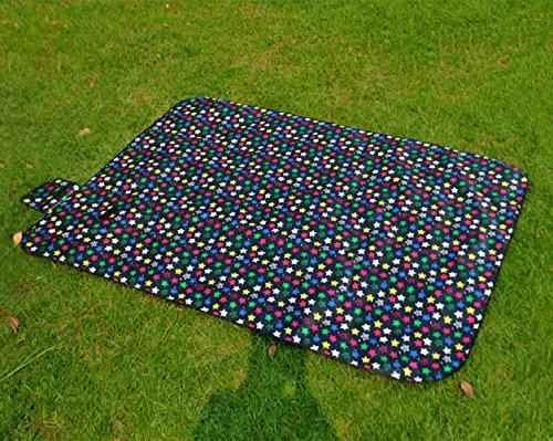ZGYZ Wasserdicht Picknick Blanket Beach Rug Mat Großes Baby Crawling oder Child Play Mat Perfekt für Camping-Trips & die Freien, schwarz,270  270