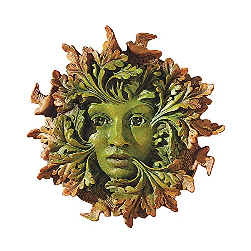 Design Toscano The Somerset Greenwoman Sculpture in Faux Verdigris and - Face Sculpture Wall