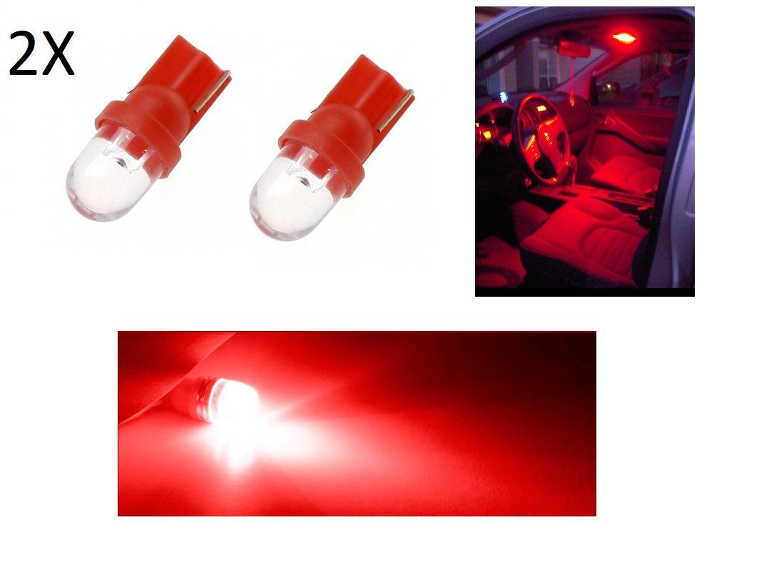 Tecnostore Lot de 2 ampoules LED pour feux de position de voiture, T10, 6 000 K, 12 V W5W, rouge 6000 K