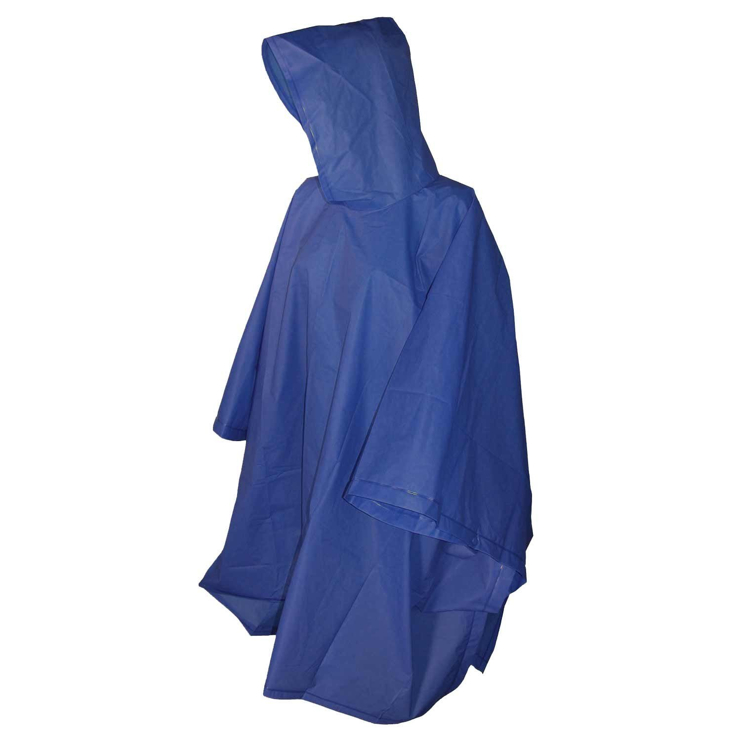 Raines Children's Emergency Poncho with Built In Hood, One Size Fits Most, Blue, 3-pack