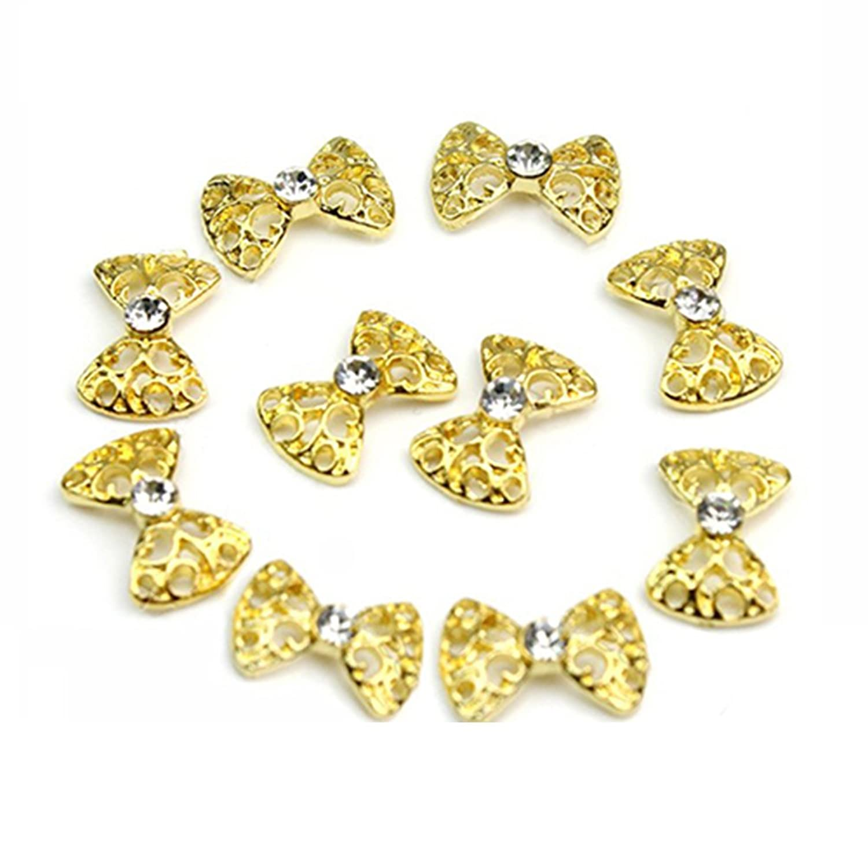 10stk. 3D Glitters Bowknot Nagelsticker Schleife Strass Nagel Art ...