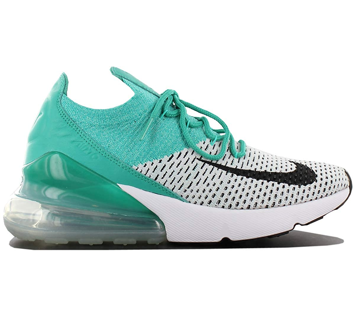 078e74e5ddee NIKE Air Max 270 Flyknit Womens Running Shoes Grey-White-Green Womens  Trainers Sneaker Shoes  Amazon.co.uk  Shoes   Bags