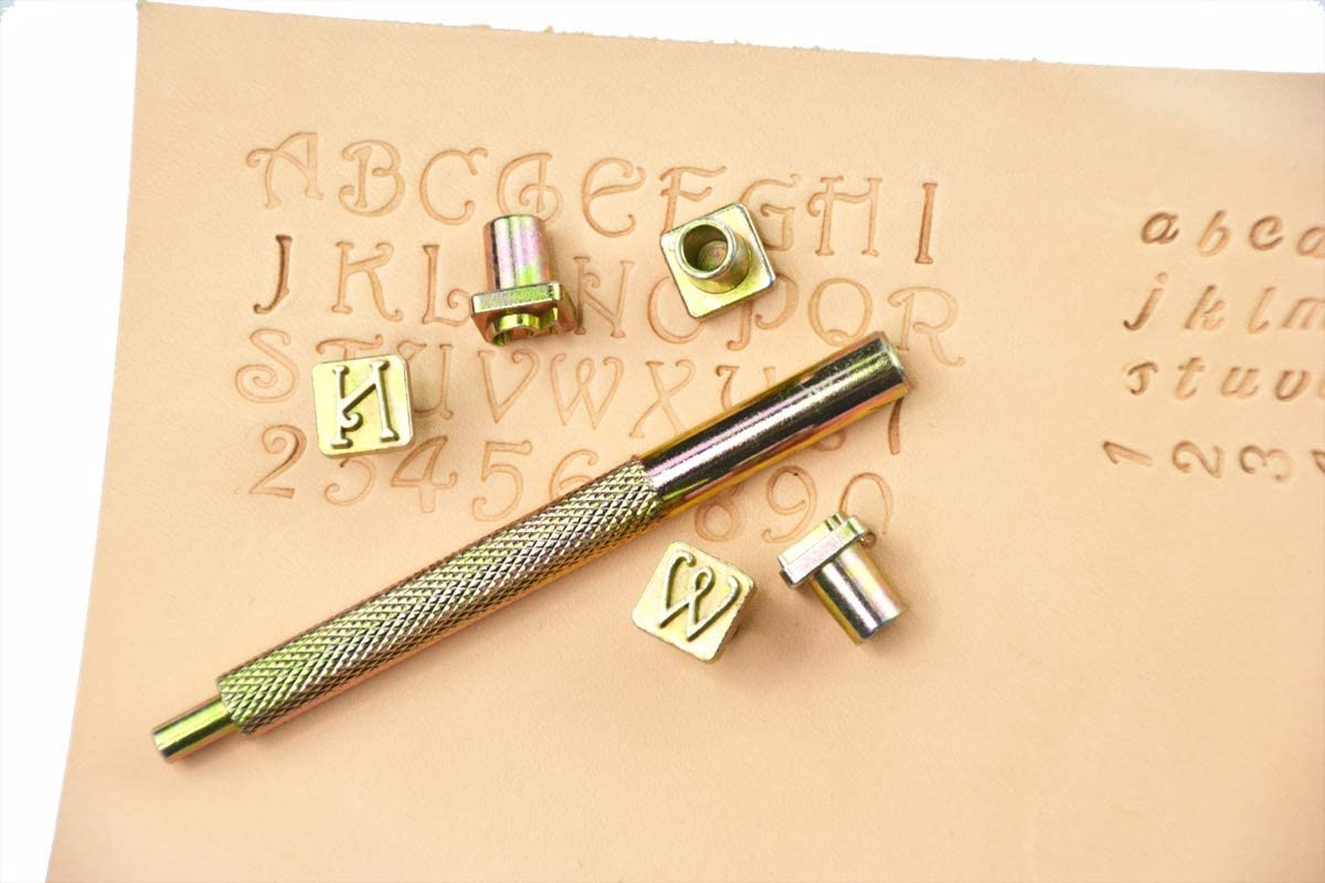 Innetoc Metal Letter and Number Stamps Punch Set for Leather Craft Stamps Tools Art Punching Tools 1//4/″ , Slivery 6.35mm