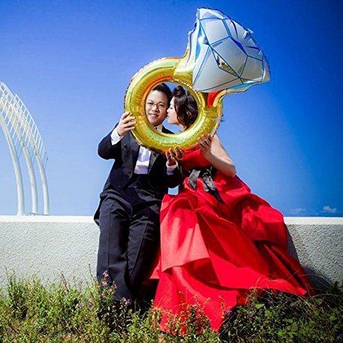 Sposa Festa Sungpunet 110 x 60 cm Anello di Diamante Anello Palloncino Ballerina di Nozze Decorazione per Festa di Compleanno