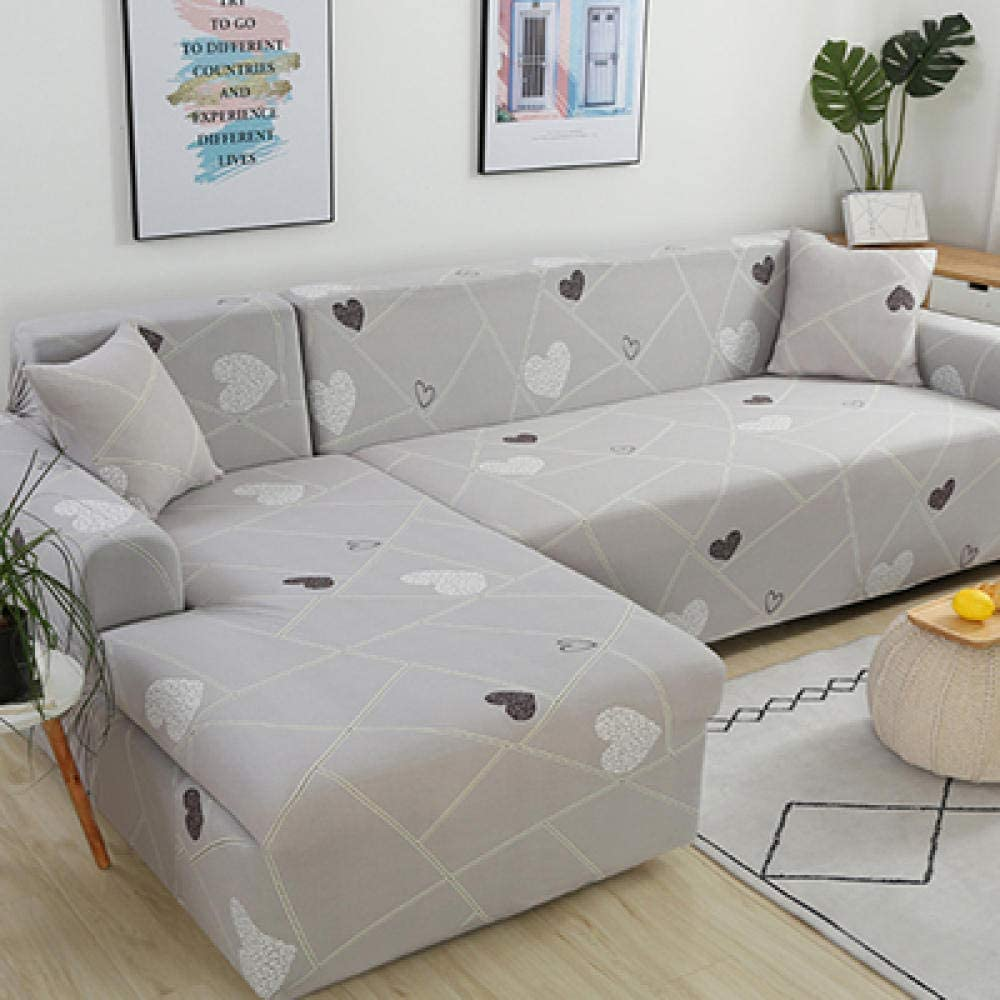 JRKJ Elastic Soft Sofa Couch Cover,Sofa Cover Slipcover Sofa For SofaTowel Solid Covers Sofa Color Living Room Furniture Protective Armchair Couches Sofa 1/2/3/4-1_45Cm Pillowcases 2 Pc