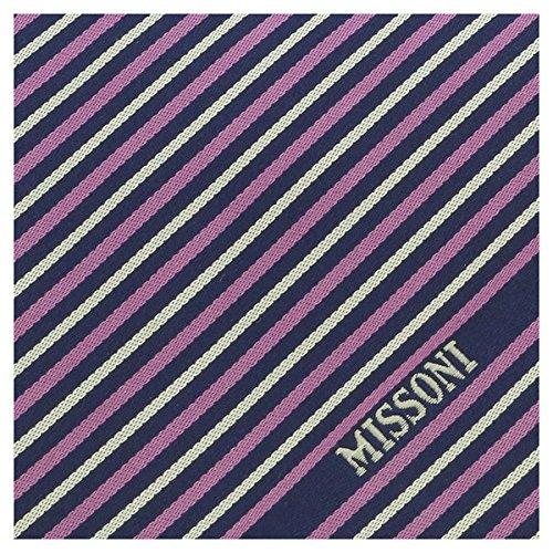 Missoni U5273 Purple//White//Navy blue Regimental 100/% Silk Tie for Mens