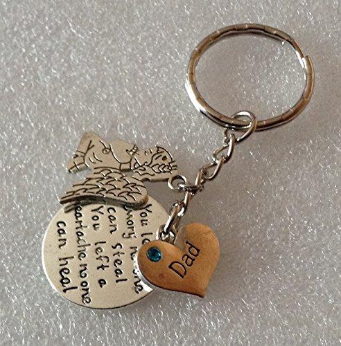 Dad Necklace,clipon handbag charm or keyring 7 memorial loss You left a memory that E290