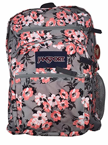 JanSport Big Student Classics Series Backpack - Coral Sparkle Pretty Posey 05c5d63259