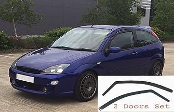 kompatibel mit Ford Focus 5-T/ürer Schr/ägheck MK2 2004 2005 2006 2007 2008 2009 2010 2011 Acrylglas Seitenblenden Fensterabweiser OEMM 4er-Set Windabweiser im Kanal-Typ