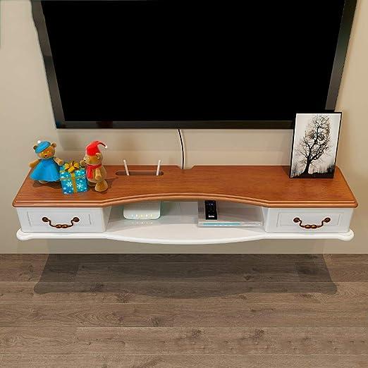 YAXIAO Mueble de Estante para televisor en Rack montado en la Pared Estante de Juegos de