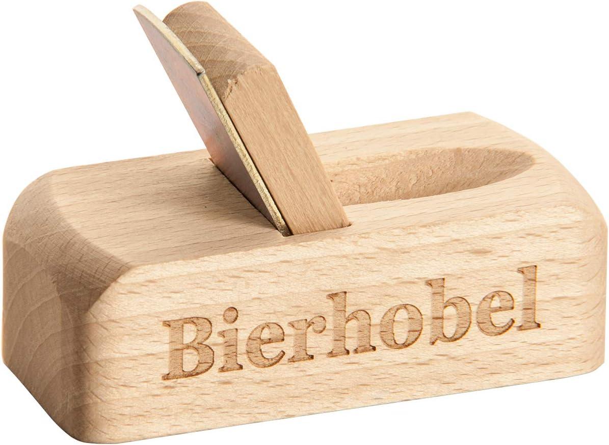 Bierhobel Bois Spruchreif de qualit/é sup/érieure 100/% /émotion D/écapsuleur en Bois avec Gravure Cuill/ère /à bi/ère avec Inscription pour Homme