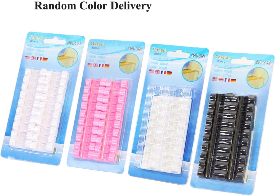 ZQ House 100PCS Cable Fixed Clip Wire Organizer with Adhesive Random Color Delivery Durable