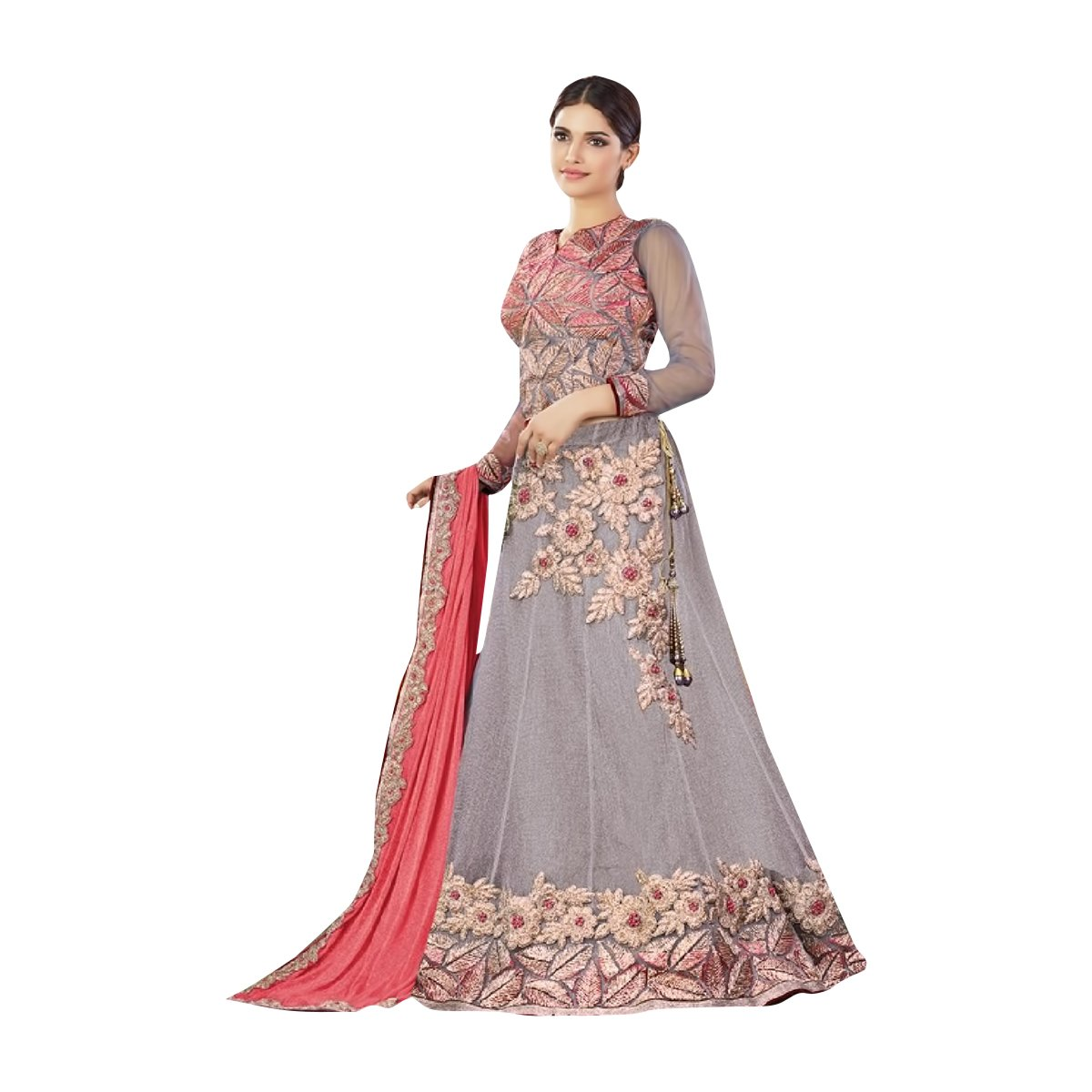 Wedding Indian Women Dress Hijab Straight Lehenga Choli Salwar Kameez Suit Party Wear 502
