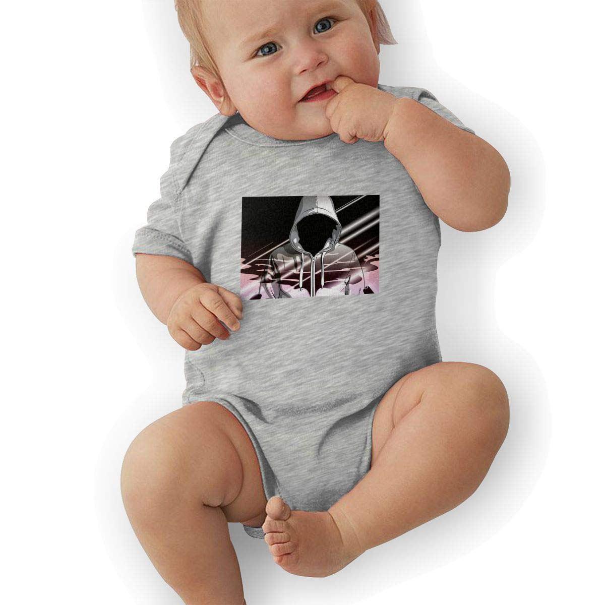 Newborn Baby Girls Bodysuit Short-Sleeve Onesie Hip-Hop Print Outfit Autumn Pajamas