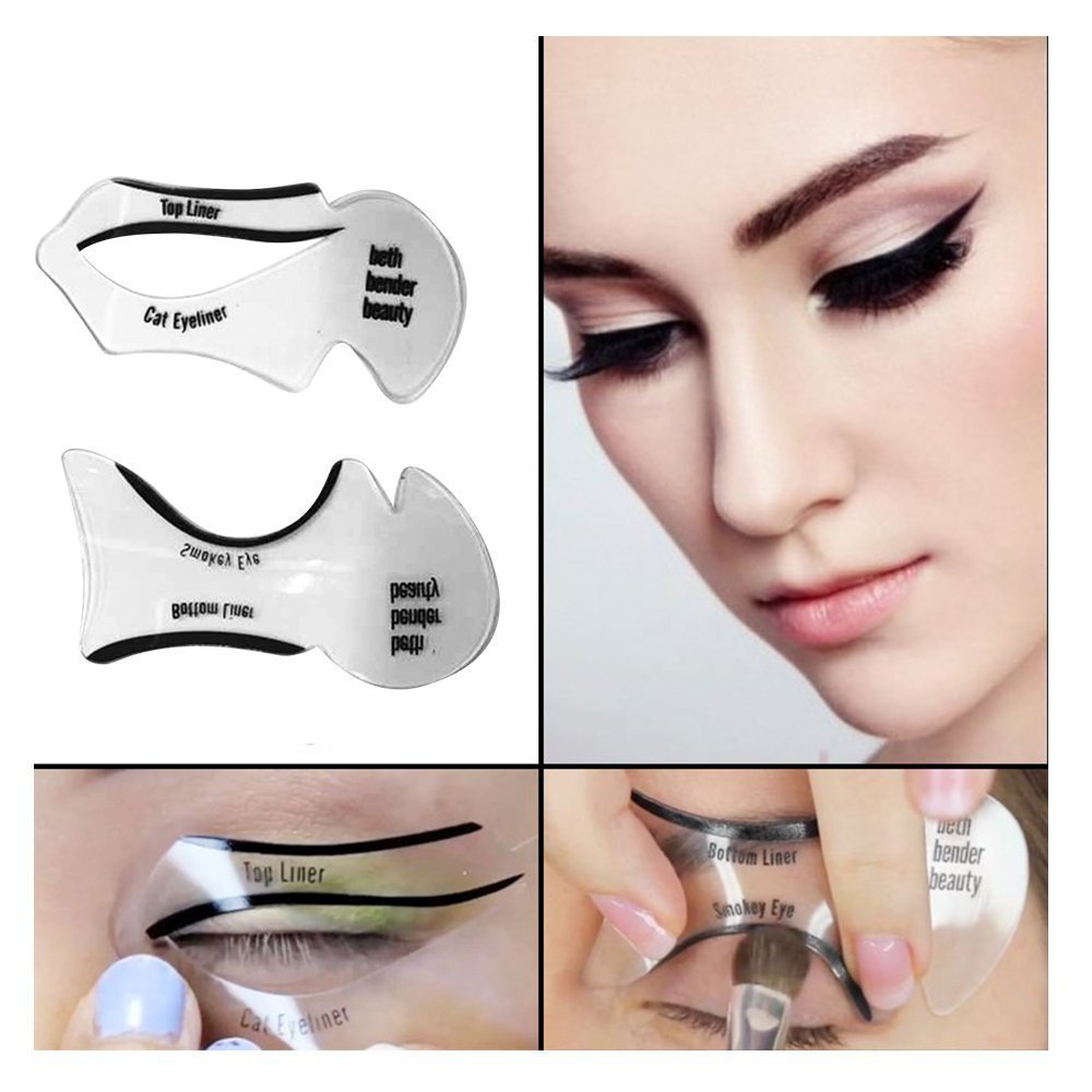 mlmsy 6 pcs makeup beauty cat eyeliner smokey eye stencil models