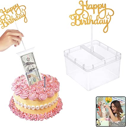 Funny Toy Box Cake Money Photo Puling Props Making Surprise for Birthday Gifts