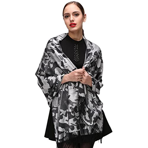 Binhee Mujeres Moda Camuflaje Patrón Bufanda Chal Otoño E Invierno Disponible