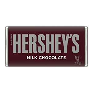 HERSHEY'S Milk Chocolate Mother's Day Candy Gift, 5 Pound, Giant Bar