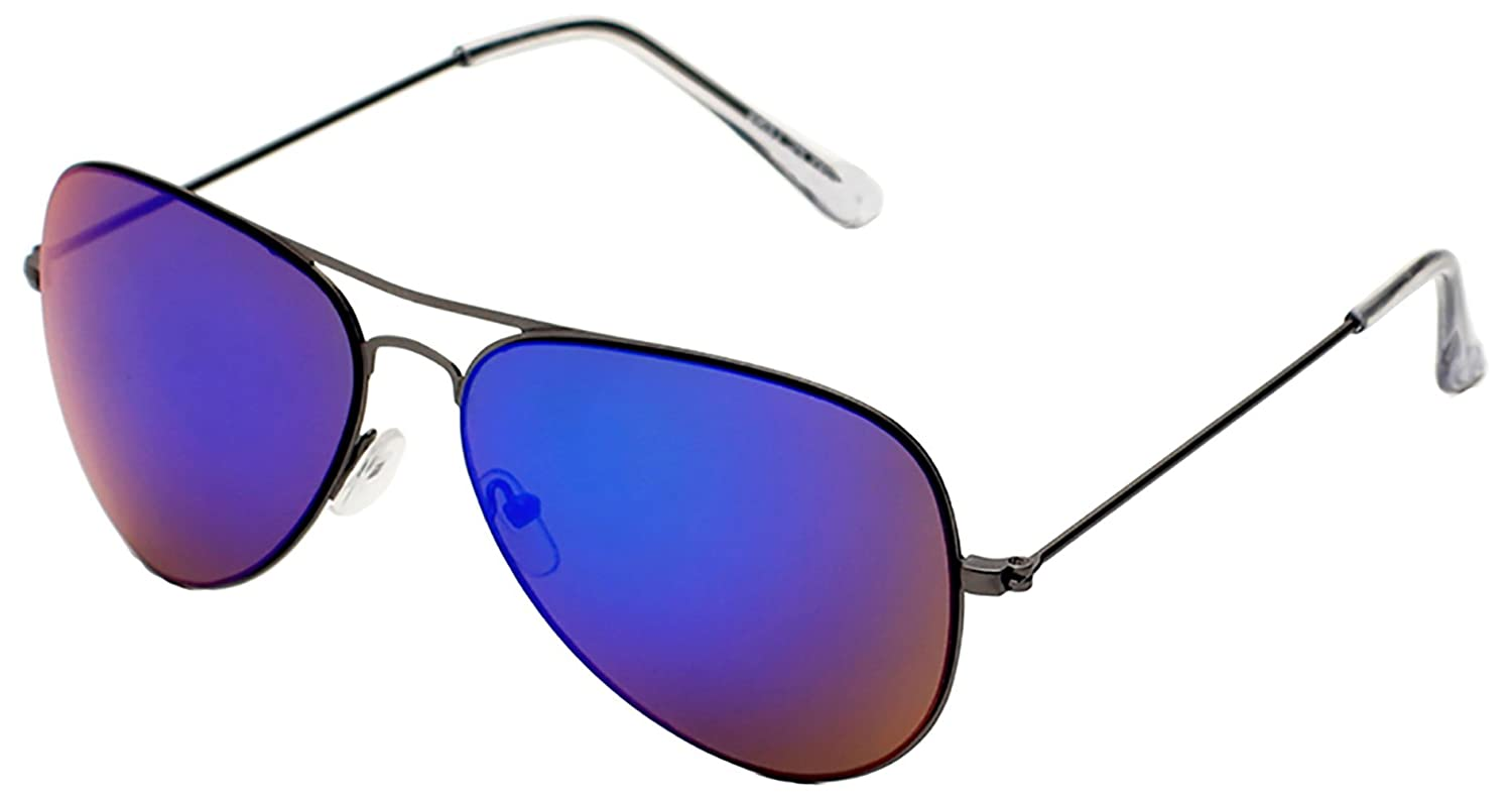 6by6 UV Protected Aviator Sunglasses for Men   Women - Best for square face  types - Made of Metal (6B6SG1483 95e55b4487