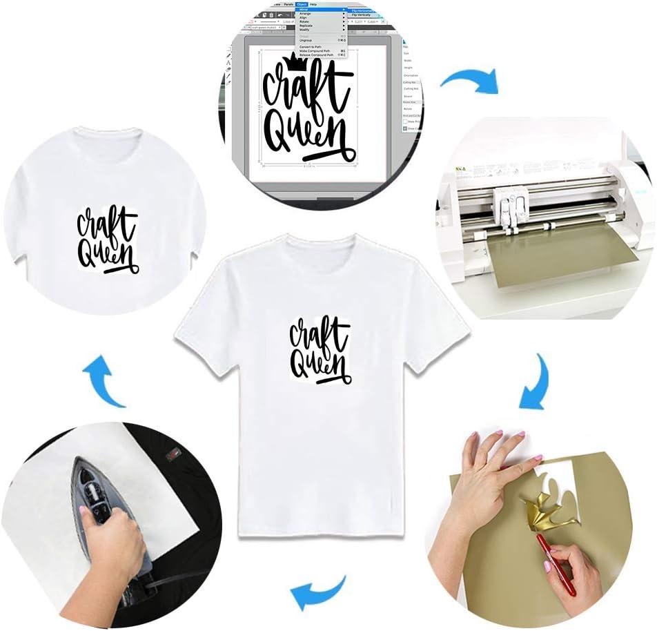 Heat Transfer Vinyl HTV for T-Shirts 12 Inches by 12 Feet Roll Black Viewmoi HTV Vinyl Rolls for Silhouette Cameo or Cricut Heat Press Machine