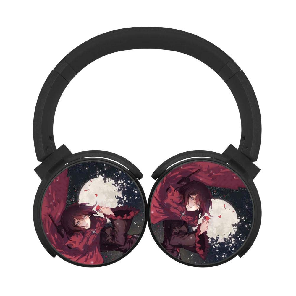 BUZAILIANX-E RW-by Ru-by Holding Rose Petals Function Foldable HI-FI Over-Ear Wireless Stereo Bluetooth Headphone