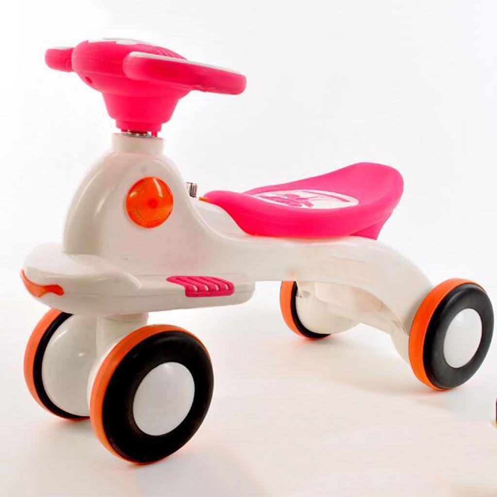 GOUGOU Children Twist car Music mute wheel baby scooter swing car Four-wheel , B